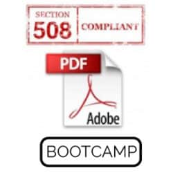 Adobe Acrobat Pro Section 508 Accessibility BootCamp Live Hands-On Instructor-Led Training Class