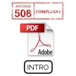 Adobe Acrobat Pro Section 508 Accessibility Introduction Live Hands-On Instructor-Led Training Class