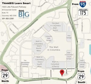 Map of Walking Distance to ThinkB!G from Sheraton