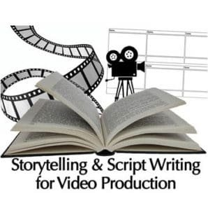 Storytelling and Script Writing for Video Production Logo