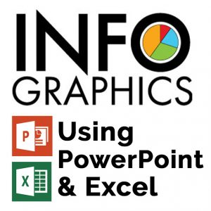 Infographics Using PowerPoint and Excel Logo